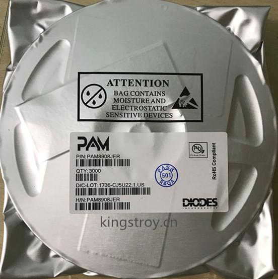 原装PAM8908立体声耳机功放IC,凯特瑞提供PAM8908报价,库存,现货支持。